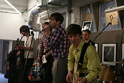 Dutch Uncles performing
