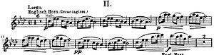 Cor anglais - Opening motive from the 2nd movement (Largo) of Dvořák's Symphony No. 9, From the New World