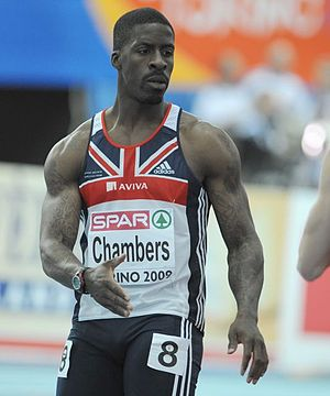 Dwain Chambers - Chambers competing in the 2009 European Team Championships
