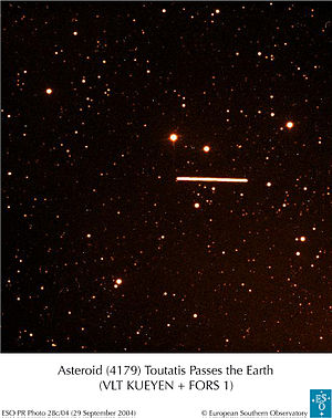 Near-Earth object - Asteroid Toutatis from Paranal