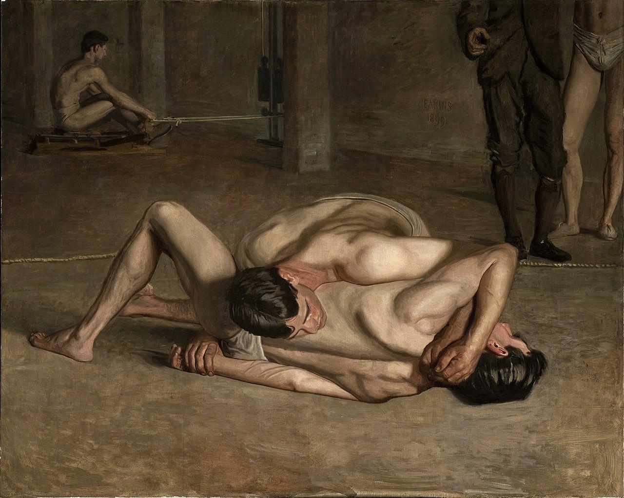 1280px-Eakins,_Thomas_-_Wrestlers_1899