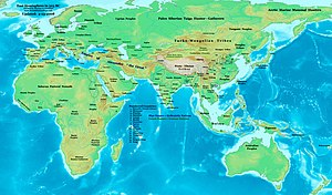Ancient history - Eastern Hemisphere in 323 BC.