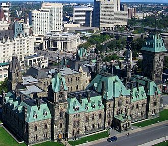 East Block - The East Block as viewed from the observation platform of the Peace Tower
