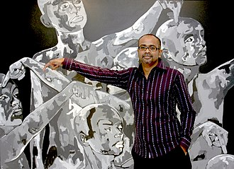 Ebenezer Sunder Singh - Ebenezer Sunder Singh, at the opening of White Nights at Palette Art Gallery in New Delhi
