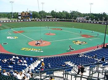 Tyler Field In Eck Stadium In Wichita Kansas Home Of The Wichita State Shockers Missouri Valley Conference Division Missouri Valley Wichita State Stadium