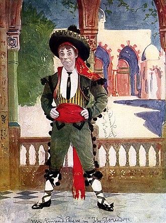 The Toreador - Drawing of Edmund Payne as Sammy Gigg