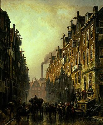 Jodenbuurt - Image: Eduard Alexander Hilverdink Jodenbuurt in Amsterdam