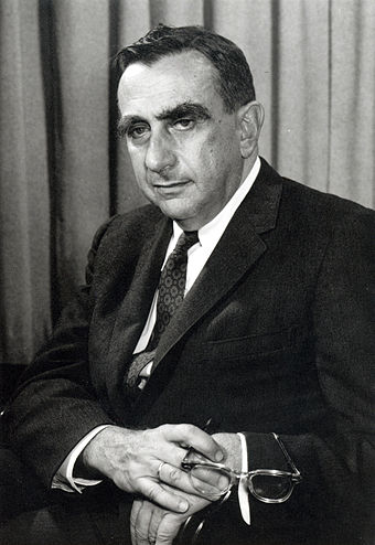 "Edward Teller, often referred to as the ""father of the hydrogen bomb"" Edward Teller (1958)-LLNL.jpg"