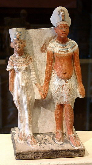 Akhenaten and Nefertiti statuette