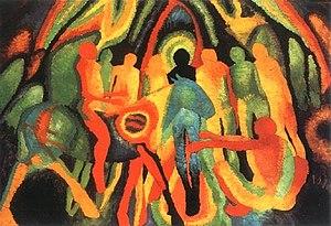 Wilhelm Morgner - Image: Einzug jerusalem morgner