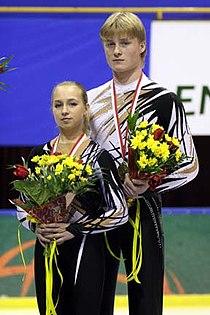 Ekaterina Sheremetieva & Mikhail Kuznetsov 2007-2008 ISU Junior Grand Prix Final.jpg