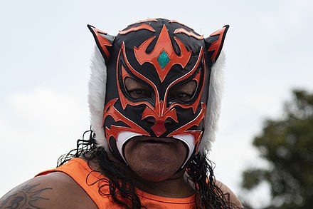 His father, while wearing the El Felino mask which Tiger's mask is based on. El Felino Mask.jpg