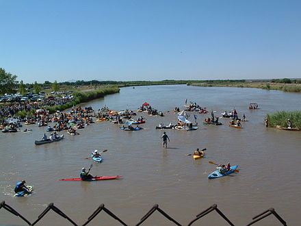Great River Raft Race held annually on the Rio Grande in El Paso's upper valley. El Paso's Upper Valley by the Rio Grande.jpg