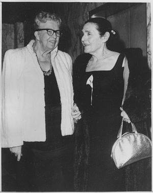 Fannie Hurst - Fannie Hurst with Eleanor Roosevelt in 1962.