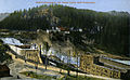 Elektricitetsværket ved Nedre Lerfos med Fossestuen (ca. 1915).jpg