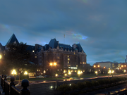 The Empress hotel in the morning.