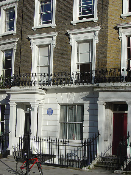 Engels's house in Primrose Hill, London