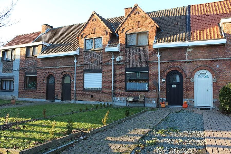 """Arbeiderswoningen """"Engels Kamp"""", Beveren, Gentseweg 98-104"""