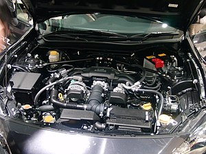 Engine room of Subaru BRZ.JPG