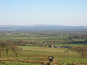 Beacon Fell, Lancashire - Looking south towards Preston