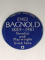 Enid Bagnold 1889-1981 novelist and playwright lived here.jpg
