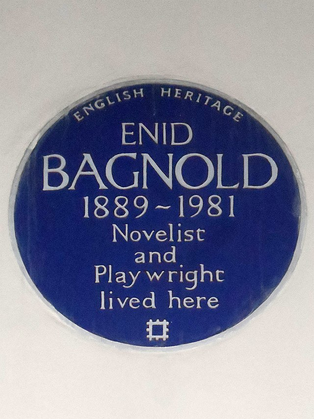 Enid Bagnold blue plaque - Enid Bagnold 1889-1981 novelist and playwright lived here