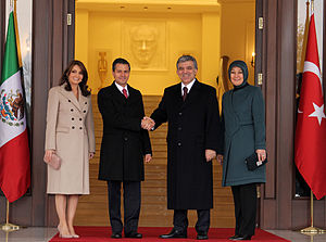 Mexico–Turkey relations - Mexican President Enrique Peña Nieto with Turkish President Abdullah Gül in Ankara, December 2013