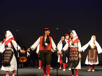 "Serbian dances - Image: Ensemble ""Kolo"" dancing Old Silent dance from Glamoč"