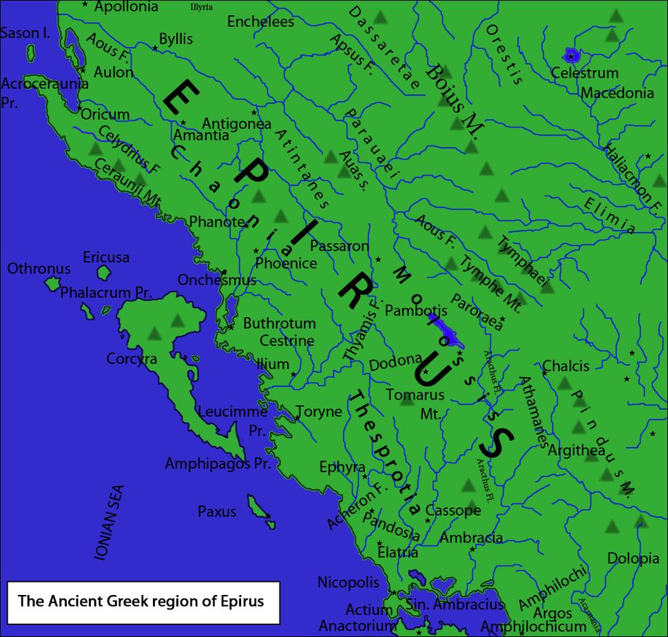 Epirus antiquus tabula