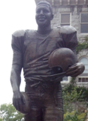 Statue of Ernie Davis, located in Syracuse University Quad.