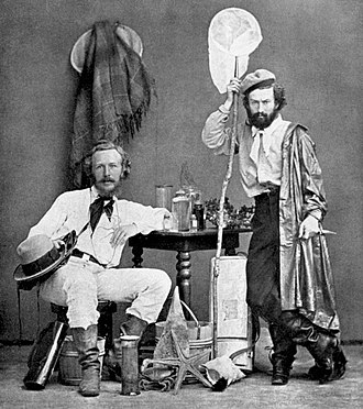 Ernst Haeckel - Haeckel (left) with Nicholai Miklukho-Maklai, his assistant, in the Canaries, 1866
