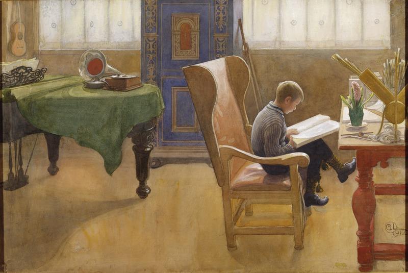 Файл: Эсбьерн в Учебном уголке (Карл Ларссон) - Национальный музей - 26034.tif