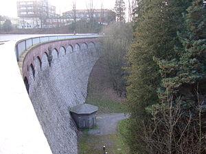 Eschbach Dam - The dam in December 2006.