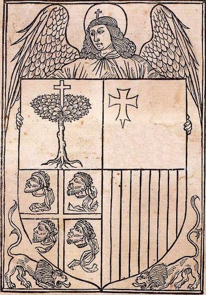 Primer testimonio del escudo de Aragón.