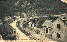 Postal antiga de l'estació Banys de Toès.