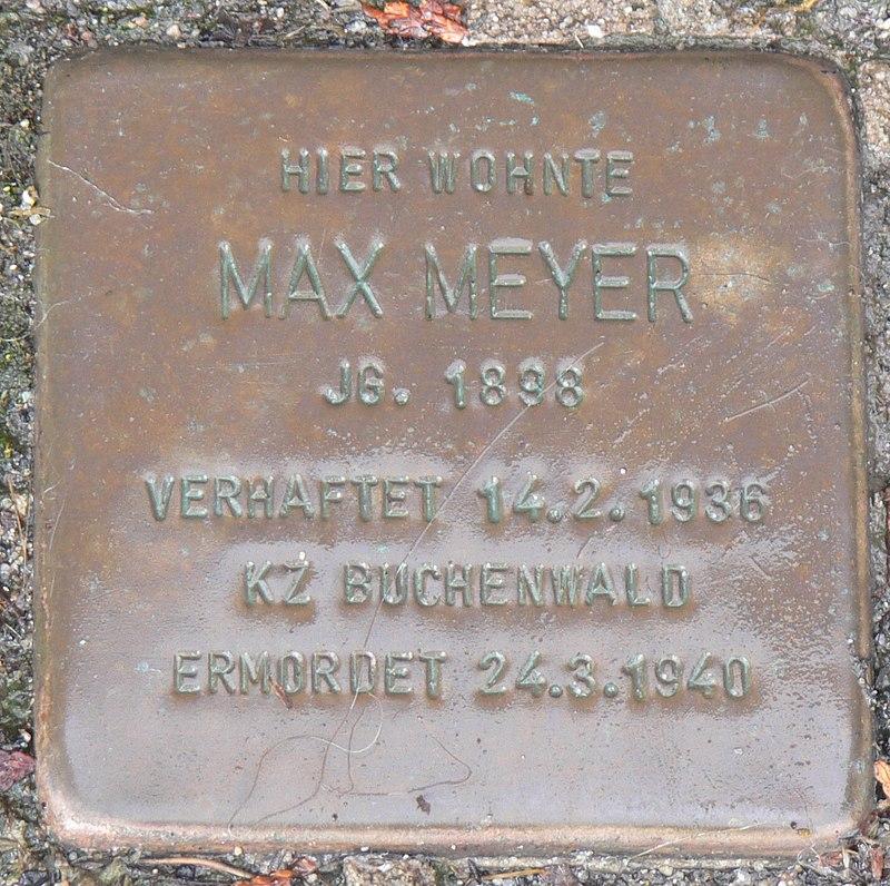 Estenfeld Stolperstein Meyer, Max.jpg