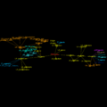 EtymTreeGraph paw-pudeo-pudetNL fillcolor Comm (Gephi original colour BBack3target).png
