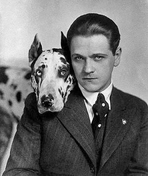 Eugeniusz Bodo - Eugeniusz Bodo and his dog Sambo