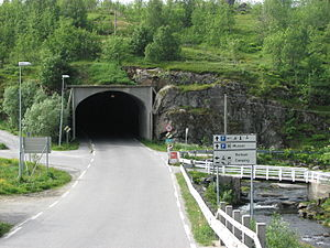 European route E10 - End of the E10 in Å