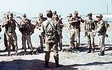 dff18799 Soviet special forces wear telnyashkas with Afghanka battle dress during  the War in Afghanistan.