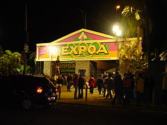 Entrada da Pra�a de Eventos, em das edi��es da Expo�