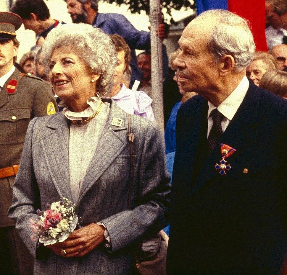 Fürst Franz Josef II. von und zu Liechtenstein mit Fürstin Gina