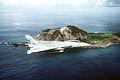 F-14A Tomcat of VF-154 over Mt Suribachi in 1994.jpg
