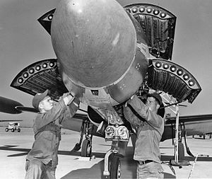 4709th Air Defense Wing - F-94 Starfire being armed with Mighty Mouse rockets