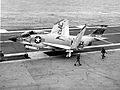F3H-2N of VF-31 on USS Saratoga (CVA-60) 1958.jpg