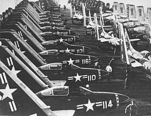 VF-142 - VF-193 F2H-3s on USS Oriskany in 1953.