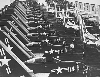 VF-142 - VF-193 F2H-3s on USS Oriskany in 1953.