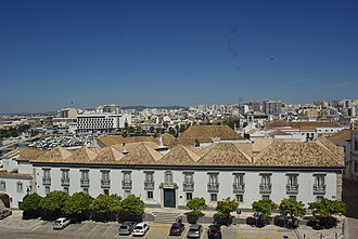 Faro, Portugal - A view of the skyline of the Algarvian capital of Faro