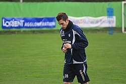 FC Lorient - january 3rd 2013 training - Maxime Barthelmé.JPG