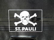 Logo on a truck at the stadium